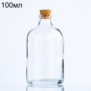 Стеклянный пузырек с пробкой, 100мл (арт.83)