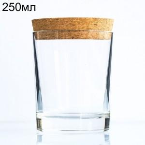 Стеклянная баночка-стакан с пробкой, 250мл (арт.89)