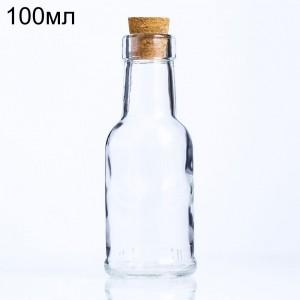 Стеклянная бутылочка миньон, 100мл (арт.92)